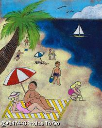 Illustration: Tropical vacation